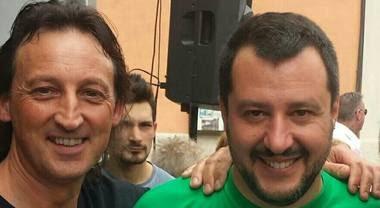 Maurizio Agostini con Matteo Salvini